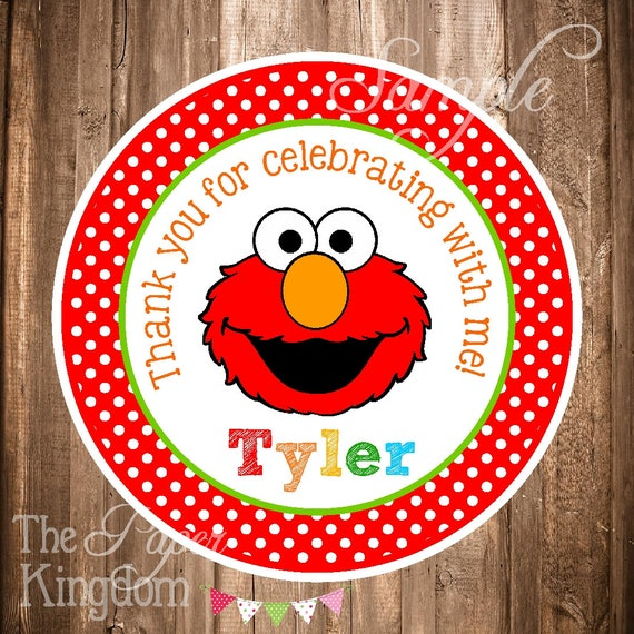 Elmo Gift Tags Or Stickers PRINTABLE Favor Birthday
