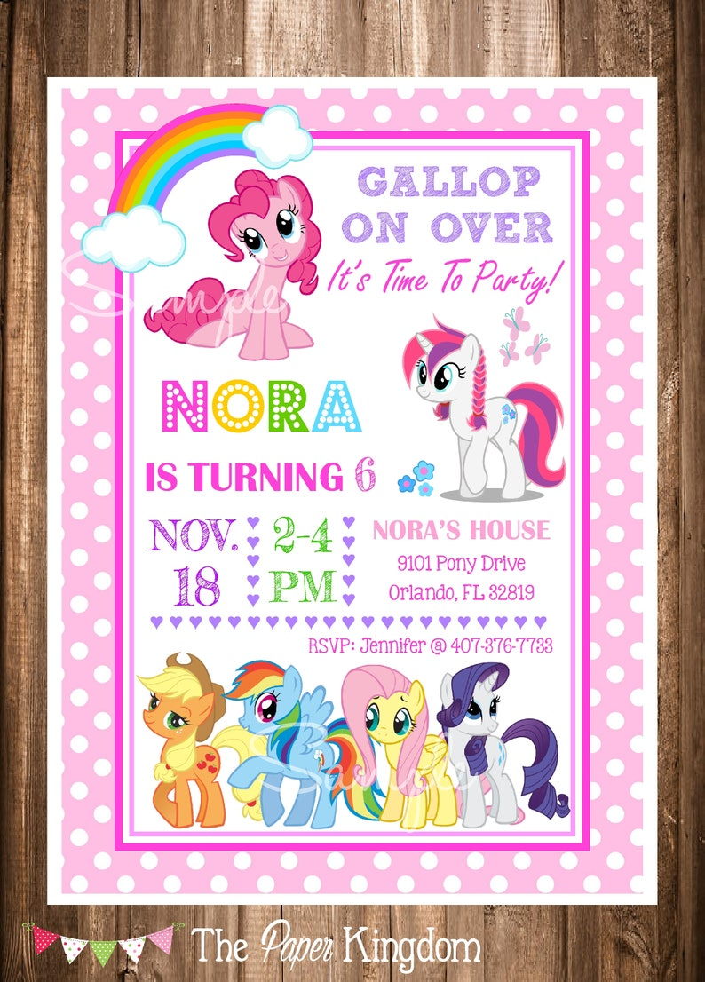 picture regarding My Little Pony Printable Invitations named My Very little Pony motivated Invitation, PRINTABLE My Very little Pony Bithday Invitation, My Tiny Pony Birthday Celebration,Electronic Invites,On your own Print