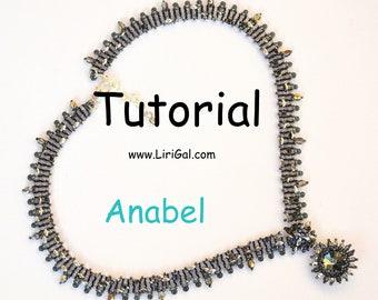 Anabel. Rivoli SuperDuo Twin Beadwork V-Necklace PDF Tutorial