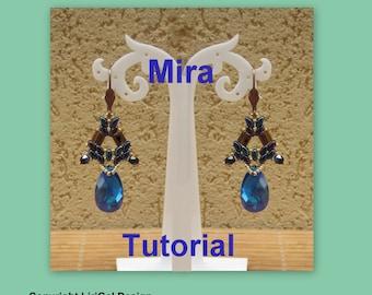 Mira SuperDuo Beadwork Earrings PDF Tutorial