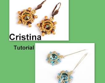 Cristina Rivoli-SuperDuo Beadwork Earrings PDF Tutorial