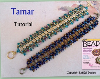 Tutorial Tamar SuperDuo and Tila Beadwork Bracelet PDF