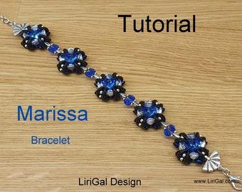 Marissa Crescent beads Beadwork Bracelet PDF Tutorial