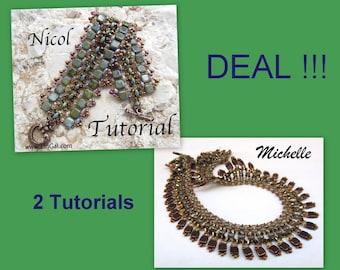 Tutorial Nicol&Michelle SuperDuo and Tila Beadwork Bracelet and Necklace PDF