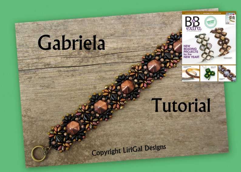 eb8e362598b40 2 patterns deal.Amanda and Gabriela SuperDuo and Pyramid beads Beadwork  Necklace and Bracelet PDF Tutorial