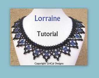 Tutorial Lorraine  SuperDuo and Half Tila Necklace PDF