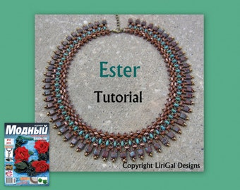 Tutorial Ester SuperDuo and Tile beaded Necklace PDF