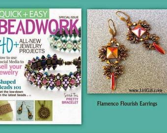Ivonne SuperDuo Beadwork Earrings PDF Tutorial