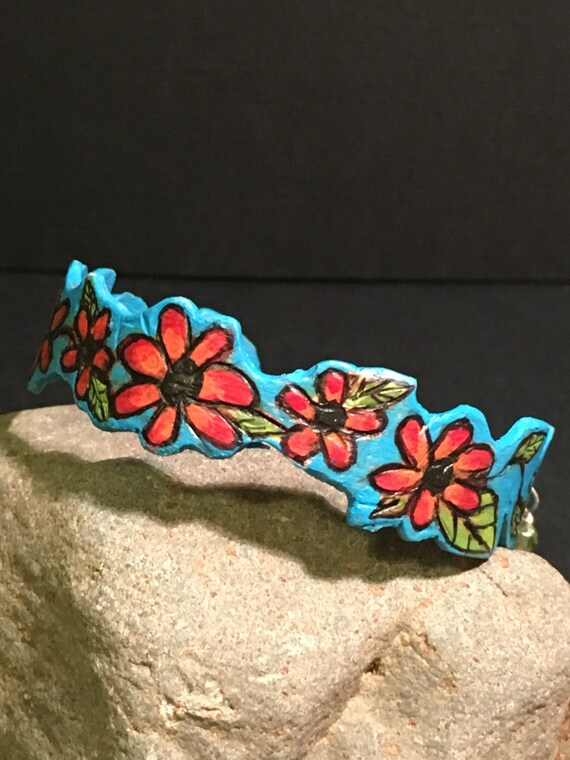 "Bracelet ""Sky Full of Poppies"""