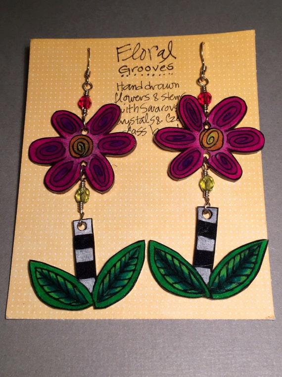 """Earrings """"Floral Grooves"""""""