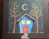 "Original ""Welcome Home"" mixed-media canvas"