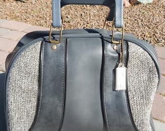Vintage Bowling Bag Gray Tweed