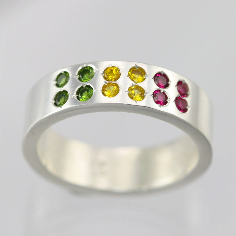 Reggae Ring in Sterling Silver Made to Order