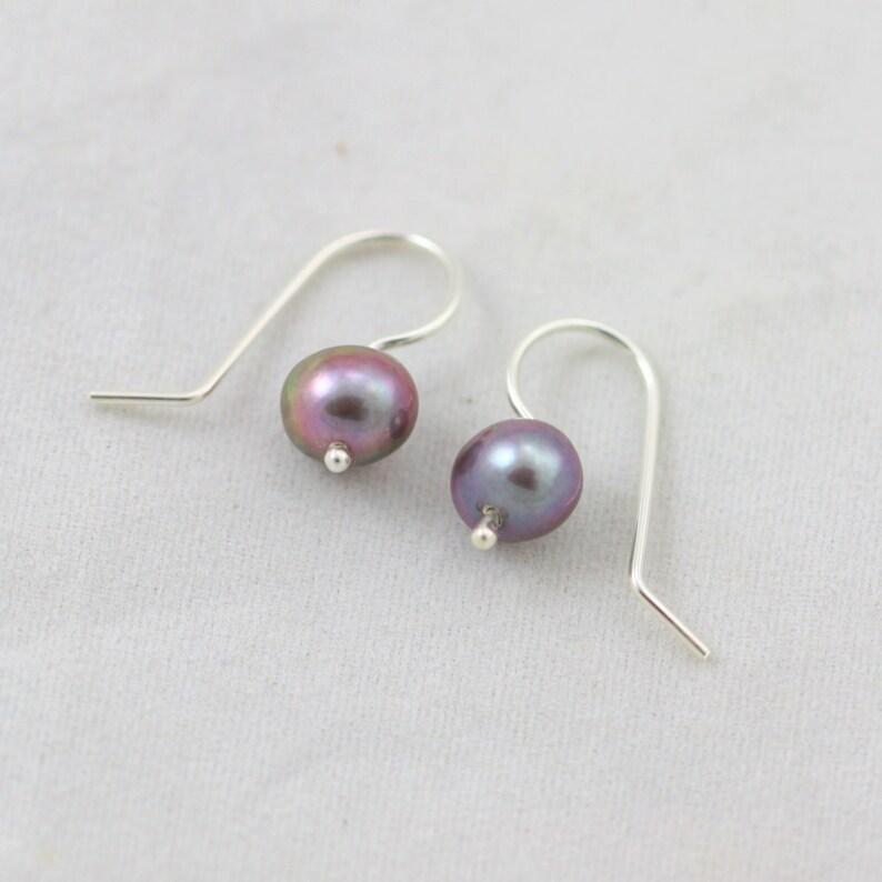 Peacock Pearl Drop Earrings in Sterling Silver