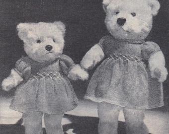 Post Free Knitting Pattern Teddy Bear Clothes Knitting Etsy