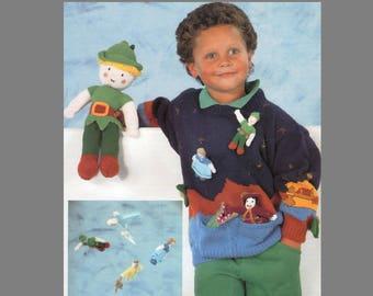 085bb0e23c12 PDF Knitting Pattern   Child s Peter Pan Sweater