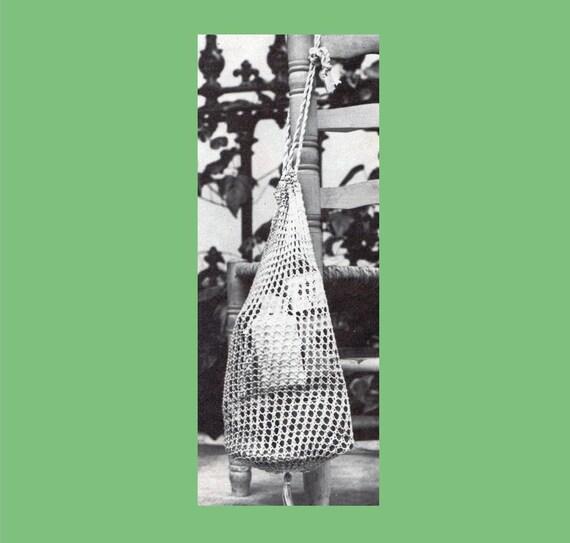 Pdf Knitting Pattern Knitted Shopping Bag String Bag Vintage