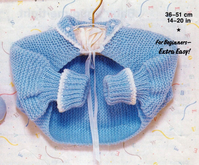 a8cc84396b0e7 PDF Knitting Pattern / Baby Knitting Pattern / Hug-Me-Tight /Easy Knit  Garter Stitch Cardigan / 8 ply yarn / Digital Download PDF post Free