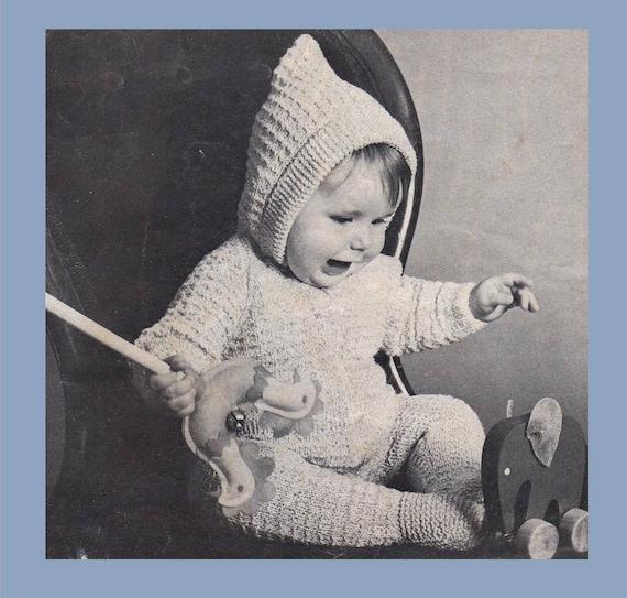 e06eb658d911 PDF Knitting Pattern   Baby Knitting Pattern   Snow Suit