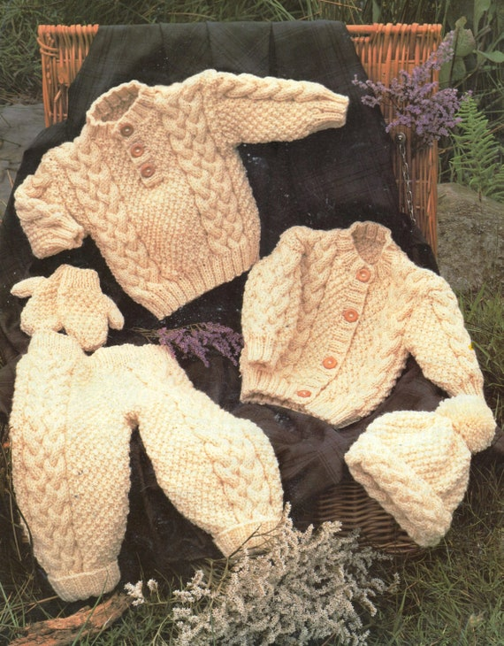 Knitting By Post Baby Carriage Kit Complete With Wool and Knitting Pattern