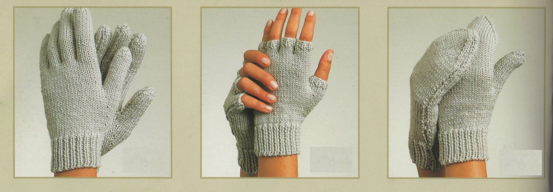 PDF Knitting Pattern / Gloves, Fingerless Gloves and Mittens/ 3 in 1 ...