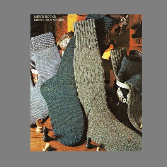 Pdf Sock Pattern 4 Ply Socks In Three Styles Using Four Etsy