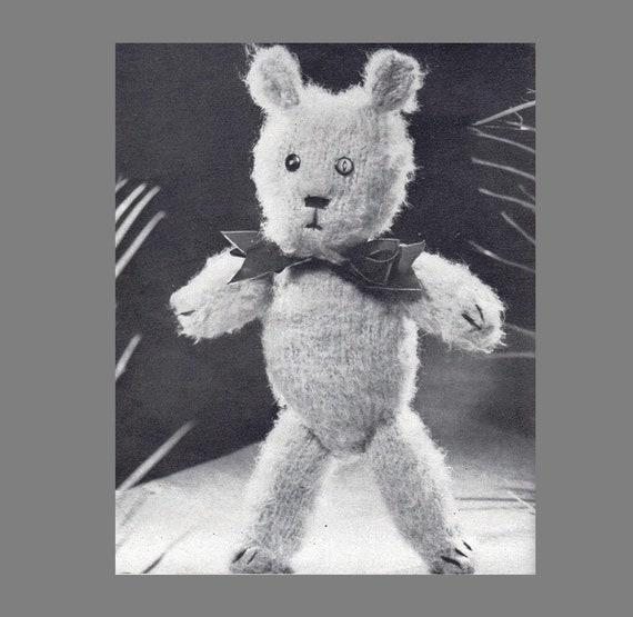 Post Free Knitting Pattern Teddy Bear Patternbulky Yarn Etsy