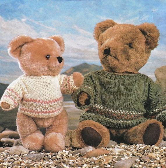 Post Free Teddy Bear Clothes Knitting Pattern 8ply Yarn Etsy