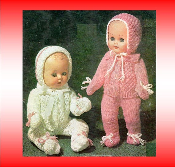 Post Free Dolls Clothes Knitting Pattern / 8ply Double Knit | Etsy