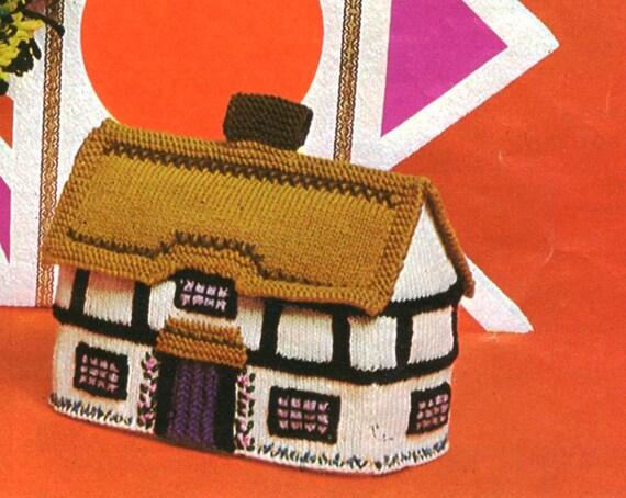 Pdf Knitting Pattern Tea Cosies Vintage Cottage Tea Cosy Etsy