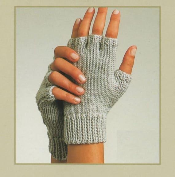 PDF Knitting Pattern / Gloves Fingerless Gloves and Mittens/ | Etsy