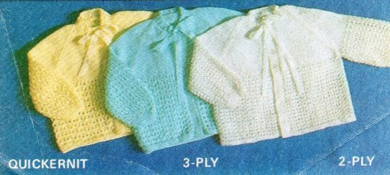 94b2b2021501f PDF Knitting Pattern / Vintage Baby Knitting Pattern / Cardigan 2ply, 3ply,  4ply, and 5 ply yarn / PDF instant download / Post Free Patterns