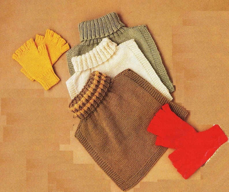a8e359f72530 PDF Knitting Pattern   Gloves Fingerless Gloves and tuck in