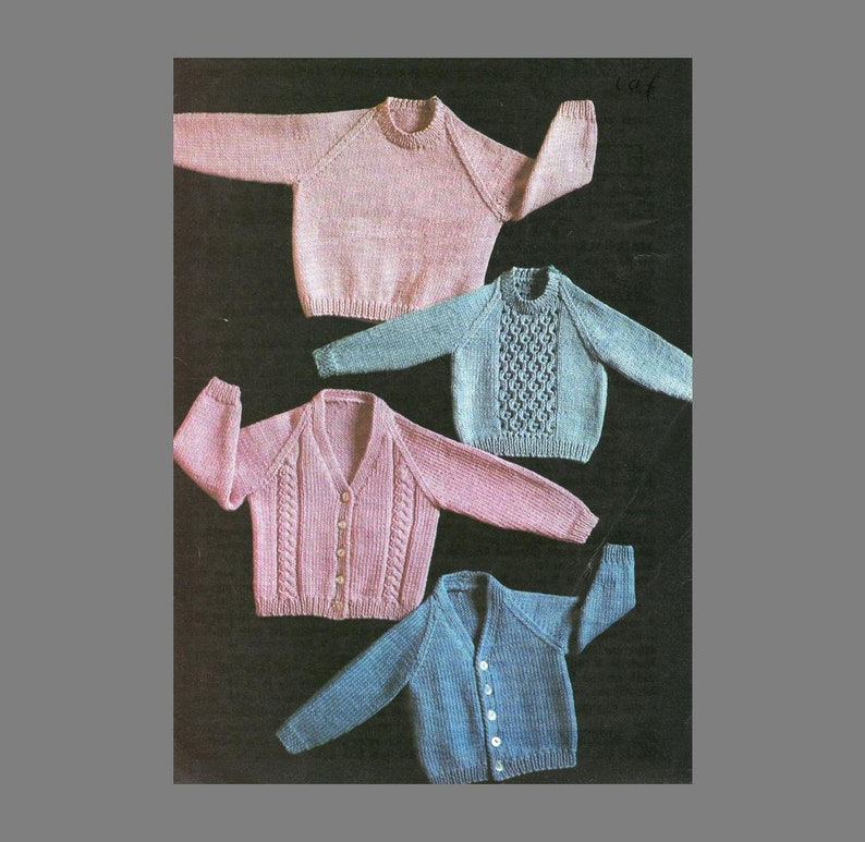2dad0b161 PDF Baby Knitting Pattern 4 patterns in One Boy or Girl