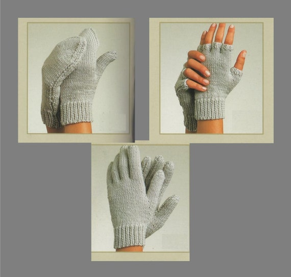 Pdf Knitting Pattern Gloves Fingerless Gloves And Mittens Etsy