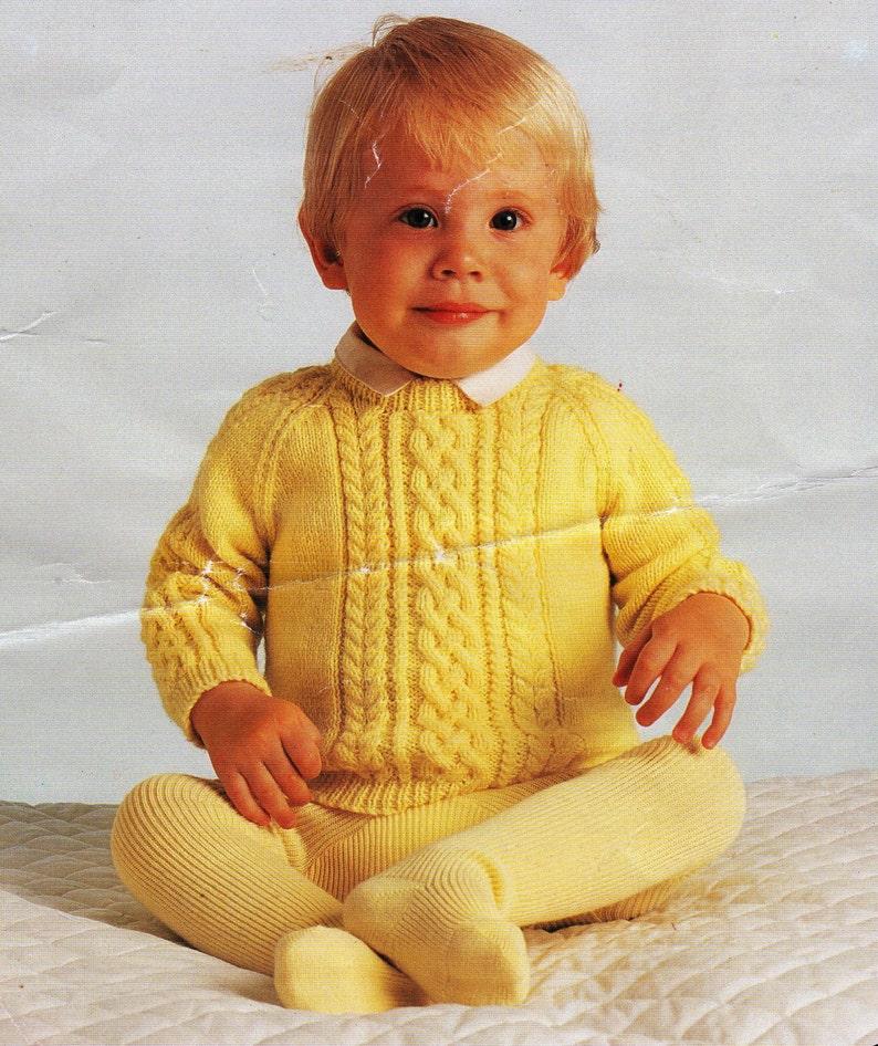 425c39064 PDF Pattern   Vintage Baby Knitting Pattern   Raglan sleeve