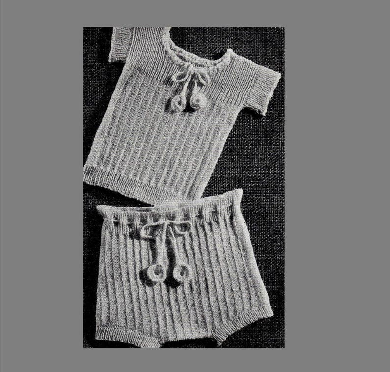 Pdf Knitting Pattern Wool Diaper Cover Vintage Baby Knitting Baby Vest And Pants 3ply Yarn Pdf Instant Download Post Free Knitting Pattern