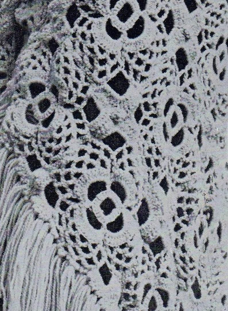Pdf Crochet Pattern Vintage Women S Crochet Shawl Etsy