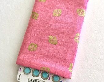 Pill Case Birth Control Sleeve - Golden Strawberries