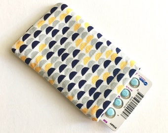 Pill Case Birth Control Sleeve - Half Moons -yellow