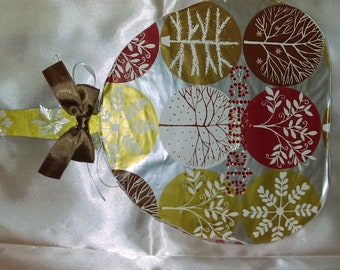 Hand made decorative fan from recycled materials