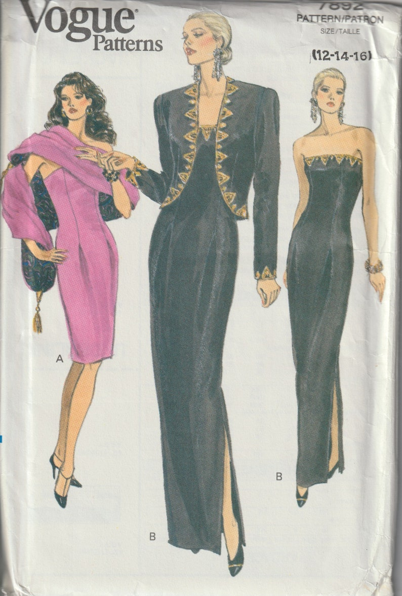 10eb00a1c Vogue 7892 Misses'/ Misses' Petite Formal Jacket | Etsy