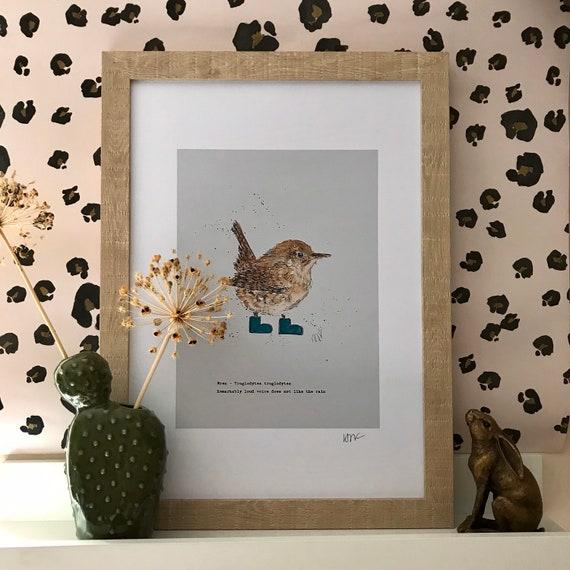 Wren in wellies prints