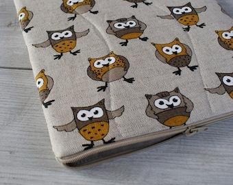 Laptop Sleeve Case Cover for 13 inch macbook/ linen/ zipper