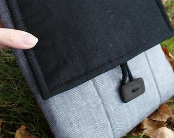 Apple iPad Sleeve Case Cover/ padded/ linen/pocket
