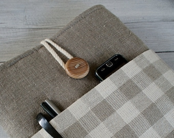 Laptop sleeve Case Cover for 13 inch/ linen