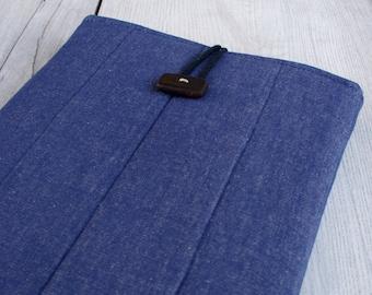Laptop sleeve for 13 inch macbook/ denim