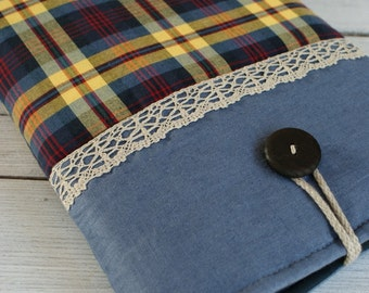 Laptop Sleeve Case Cover for a 13 inch Macbook/ linen