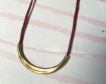 BRASS & BRAIDED NECKLACE