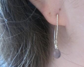 Purple Gemstone Earrings , Lavender, sterling silver, spring fashion, Beach Earrings, Valentine's Day